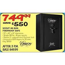 dunham sports black friday cannon scout 48 gun fireproof safe 749 99 valid on black