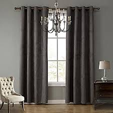 Noise Reduction Drapes Amazon Com Beautyrest 11239042x108bk Chenille 42 Inch By 108 Inch