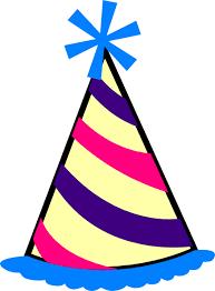 birthday hats birthday hat blue purple pink yellow clip at clker