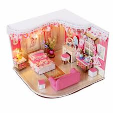 aliexpress com buy wooden doll house lobby 3d puzzle baby room