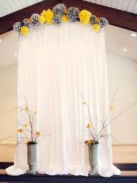 How To Decorate Wedding Arch 36 Cheerful Grey And Yellow Wedding Ideas Weddingomania