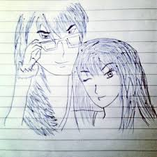 love couple sketch drawing sketches romantic beautiful happy