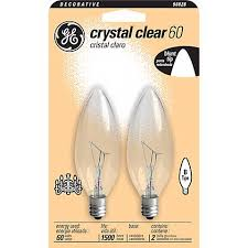 ge 60 watt 2 pack blunt tip candelabra bulbs 90828 lamps plus