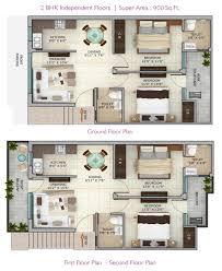 2 bhk builder floor for sale in estonia homez derabassi call