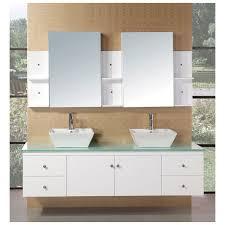 bathroom white wooden vanity storage drawers plus black counter