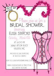 Bridal Shower Invitation Cards Samples Lingerie Bridal Shower Invitations Kawaiitheo Com