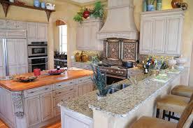 kitchen style classic mediterranean kitchen with wood countertop