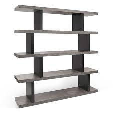 White Modern Bookcase by Step High Concrete Modern Bookcase Eurway Furniture