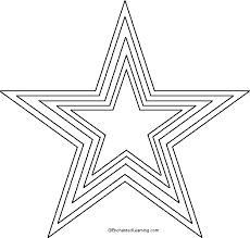 star template kids coloring
