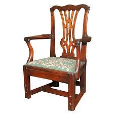 Childs Antique Chair Chippendale Period Antique Carved Mahogany Child U0027s Chair English