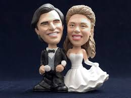 custom wedding cake toppers custom wedding cake topper bobbleheads