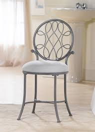 Small Chairs For Bedroom by Bathroom Furniture Gray Polished Wrought Iron Vanity Chair With
