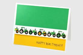 boy birthday card tractor birthday card