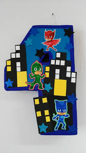 themed pinata number pj mask themed pinata made to order youll receive the