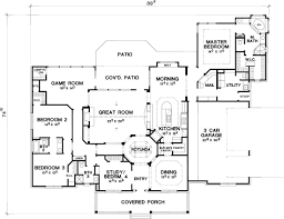 the house designers the lantana 4630 4 bedrooms and 3 baths the house designers