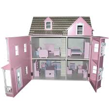Doll House Furniture Beautiful Wooden Dolls House 1 12 Scale Pink Victorian Doll House