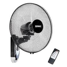 Wall Mounted Oscillating Fans Duronic Fn55 Wall Mounted 16 Inch Oscillating Black Fan With