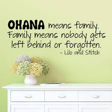 Home Decor Stickers Wall Ohana Means Family Lilo And Stitch Vinyl Wall Quote Decal Home