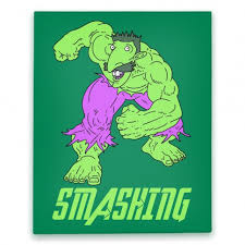 Hulk Smash Meme - smashing hulk parody canvas smashing nigel thornberry hulk