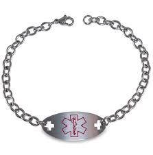 medical id bracelets for women diabetes medical alert id identification bracelet with 9