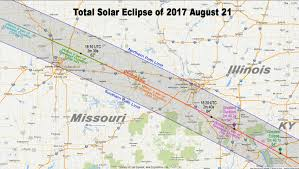 County Map Of Missouri Total Solar Eclipse Jackson County Mo