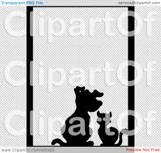 halloween borders transparent background royalty free rf clipart illustration of a black silhouette cat