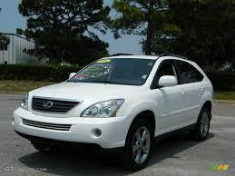 lexus rx 2006 2006 crystal white pearl lexus rx 400h awd hybrid 13076595