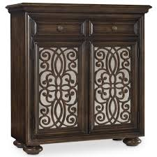 Slaters Furniture Modesto by Hooker Furniture Living Room Accents 2 Door Fretwork Chest With