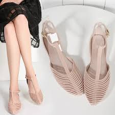 Comfortable Wide Heels Jelly Shoes Picture More Detailed Picture About Angle Wings