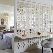 Half Wall Room Divider by Make New Space In Bedroom With Clever Room Separator Ideas As