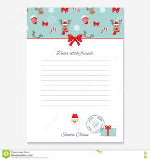 christmas letter template stock images image 7202784