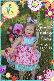 pdf girls dress pattern georgia vintage dress pattern size