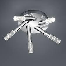 badezimmer deckenlen deckenleuchte in chrom mit 5 lichtelementen mit glas in kristalloptik