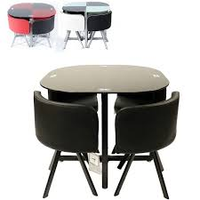 dining room round glass space saving table with chrome pedestal