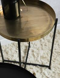 Black Side Table Black And Brass Side Tables At Grey