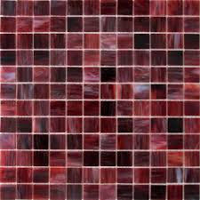 stained glass mosaic burgundy swirl unique glass tile