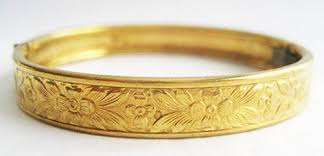 child bangle bracelet images Vintage repousse hinged child size brass bangle bracelet hollee jpg