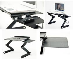 Ergonomic Laptop Desk Portable Workstation Icraze Adjustable Vented Laptop Table Laptop Computer
