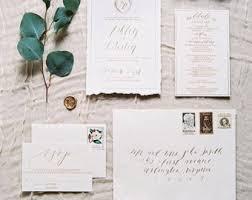 wedding invitation suites invitation suite etsy