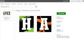 free halloween templates and printables for microsoft office