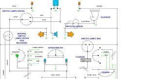belajar elektronik skema kelistrikkan lu motor