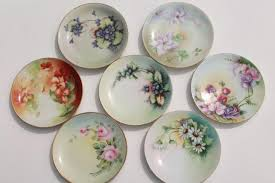 vintage painted china painted porcelain plates
