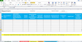 Gap Analysis Template Excel Business Impact Analysis Template Excel Excel Tmp