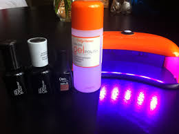 sally hansen gel manicure kit gel manicures at home met blush