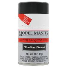 Model Spray Paints - 28139 ultra gloss clearcoat model master custom lacquer spray