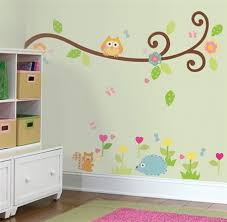 Owls On A Tree Branch Wall Decals For Kids Rooms Owlthemed - Kids rooms decals