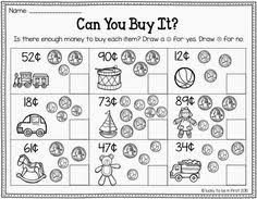 going shopping money game with computing money amounts and
