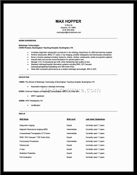 cover letter radiologic technologist resume examples radiology