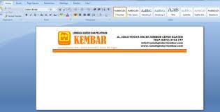 cara membuat kop surat dan logo cara mudah membuat kop surat di microsoft word yang benar kutazo net
