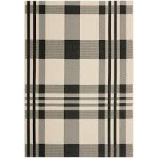 Safavieh Outdoor Rug Safavieh Courtyard Plaid Black Bone Indoor Outdoor Rug Free